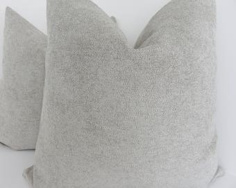 Natural Chenille Pillow Cover- Natural Pillow Cover- Accent Home Decor- Accent Pillow