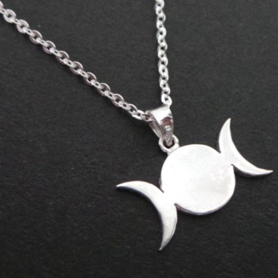 on carolina today shipping box collection overstock product chain inch silver free jewelry sterling moon glamour necklace triple watches goddess pendant