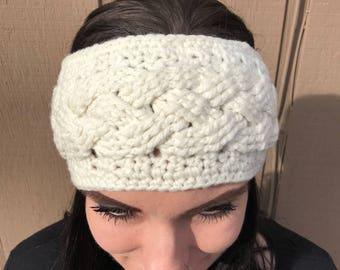 Cabled headband / ear warmer