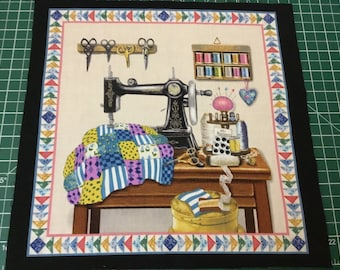 I LOVE QUILTING - Fabric Block Only