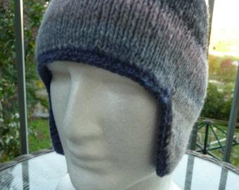 Noro Pure Wool Ear Flap Hat  -  1515