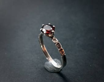 Natural Zircon 1.2 Ct. Ring - Size 8.5