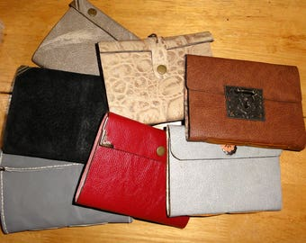 Handmade handsewn A6 leather journals various colours and fastnings