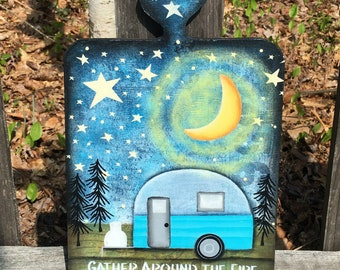camping wood sign, happy camper, camper decor, summer camp wood sign, mother gift from daughter, vintage camper sign, best selling items,