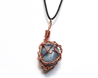 Lapis Lazuli Copper Wrapped Pendant