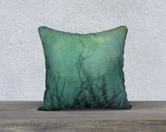 Teal Dusk Throw Pillow 18x 18 inch