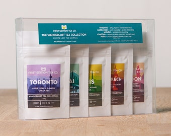The Wanderlust Tea Collection - Gift for Tea Lover - Tea Gift Set - Loose Leaf Tea - 5 x 10g bags