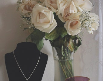 Bohemian Beach Stone Minimal Necklace from Montauk New York Hand Crafted By Rachel Leigh