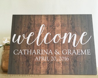 Welcome Wedding Sign - Welcome Reception Sign - Wedding Sign - Rustic Wedding Decor - Wedding Signage - Wood Wedding Sign - Ceremony Sign