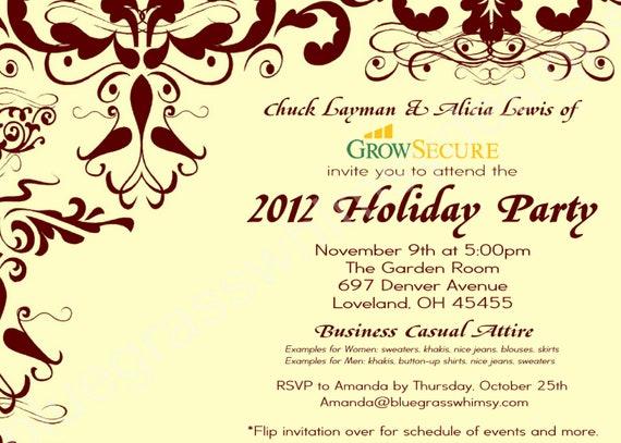 corporate invitation text