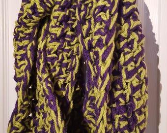 Purple & Green Infinity Scarf