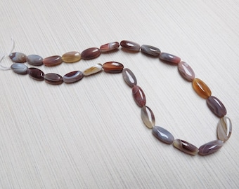 Botswana Agate long oval beads