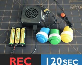 Voice Recorder Box | Talking Box, Singing Box, Push Button Sound Box | 120 Seconds