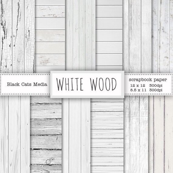 White Wood Paper Digital Background Wooden Texture Rustic Instant Download
