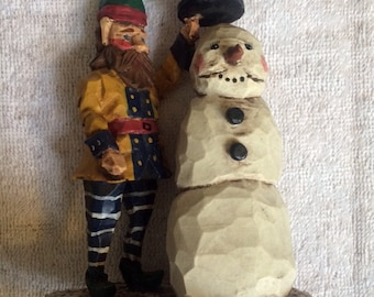 Early and Rare House of Hatten (C) Elf and Snowman