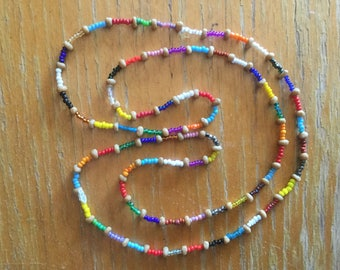 Necklace, single strand seed beads