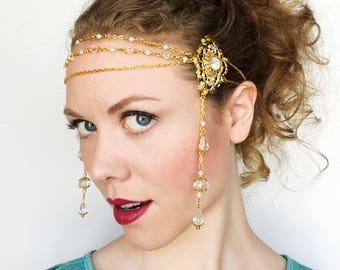 Fantasy Wedding Headpiece in Gold