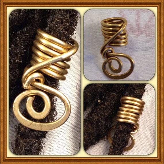Bronze  Dreadlock Bead Accessories Natural Hair Gift