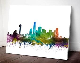Dallas Skyline Canvas Print, Dallas Cityscape, Dallas  Art Print, Dallas Decor Home Decor, Gift Idea, USTXDA01C