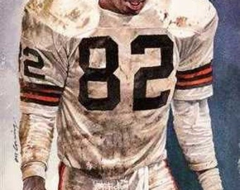Ozzie Newsome Cleveland Browns Rare Art