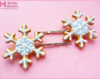 Sweet Snow Princess Hairpins by Dolly House