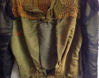 Beautiful VICTORIAN BODICE JACKET 1900's Vintage Gothic  Edwardian 1800's Costume