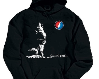 Grateful Dead Smokin Steal Your Face Hoodie / / sweatshirt /Dead and Company / Stealies / Rose /