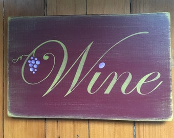 Handcrafted Wine Sign