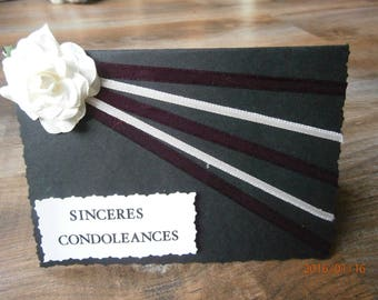 """Heartfelt condolences..."" sympathy card"