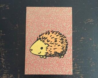 Hedgehog Mini Sketchbook, hedgehog notebook, kids sketchbook, mini notebook, porcupine notebook, pocket sketchbook