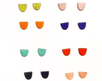 Half moon studs- Choose your color!