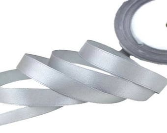 12mm grey satin ribbon
