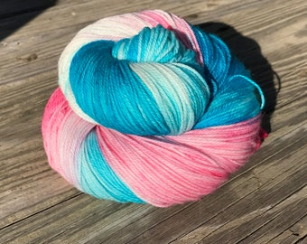 Kettle dyed Superwash Sock Yarn