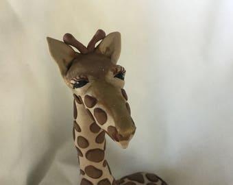 Giraffe OOAK hand sculpted from Polymer Clay