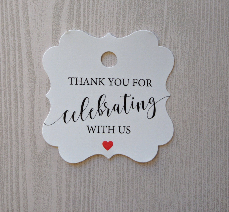 Wedding favor tag, Thank you tags, Custom tags, Bridal shower Favor ...
