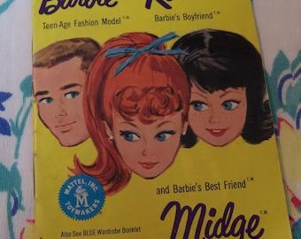 1962 barbie and ken fashion pamphlet