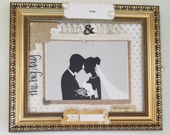 Mr. and Mrs./Husband and Wife/The Big Day/Our Marriage/Nuptials/Man and Wife/I Do Framed Scrap Booking Design