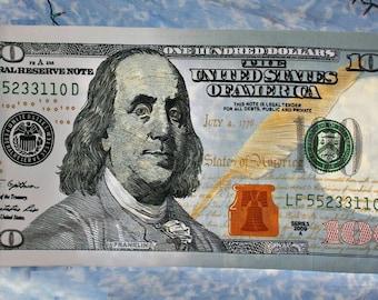 Realistic Money 100 dollar bill Towel *Wrapped in Money*