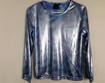 Shiny psychedelic long sleeve size S