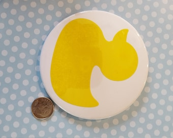 Duck 3.5 inch pin back button