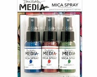 Ranger Dina Wakley Media MICA SPRAYS Pearlescent Pigment Spray - Pack of 3