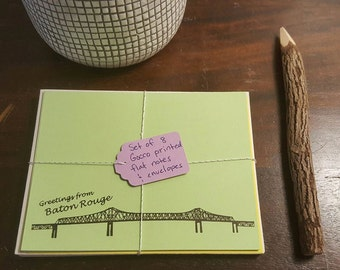 Baton Rouge Louisiana Stationery card set
