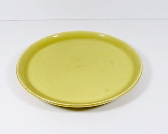Russel Wright American Modern Dinner Plate Chartreuse Midcentury Modern Steubenville