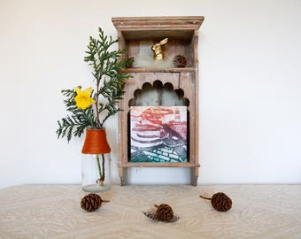 Happisburgh Lighthouse & Seaside Landscape card. 15x15cm, blank greetings card.