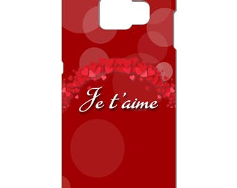 3D phone case - I love you - red hearts - Samsung Galaxy S3-S4-S5-S6-S6edge-S7-S7edge-S8