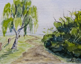 "Original ACEO 2.5""x3.5"" Watercolor"
