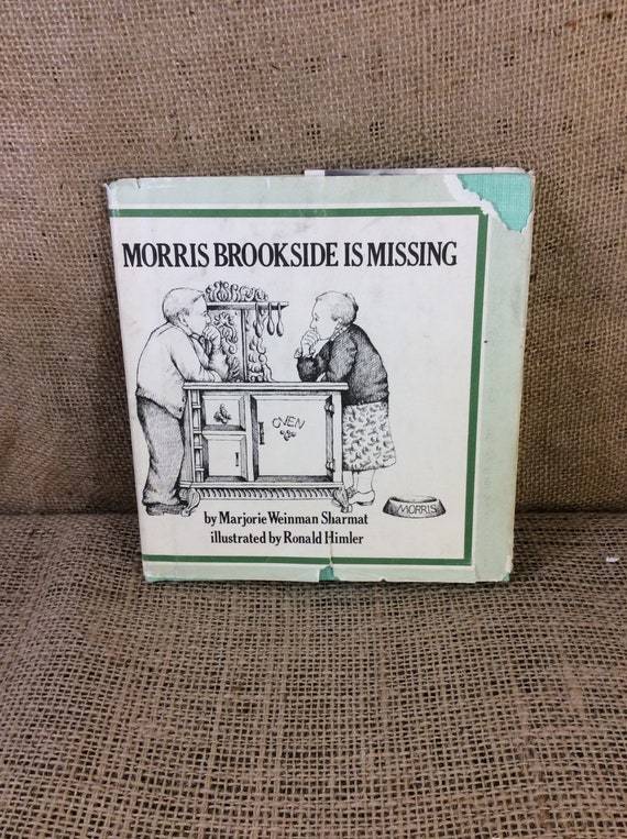 Vintage book Morris Brookside is Missing, vintage childrens book from 1974, vintage old library book, Marjorie Weinman Sharmat, vintage book