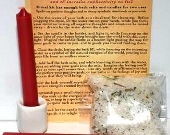 Energy Ritual Bath Salts: Invoke the Element/Energy of Fire - Ritual Bath, Ritual Wash, Ritual Bath Salts, Bath Salts for, Ritual bath for,