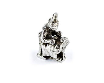 Silver Scribe Charm