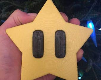 Mario Star Tree Topper/Star Tree Topper/Super Mario/Mario Star/Christmas Tree star/Christmas Decoration/ Nerdy